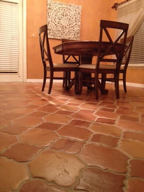 Traditional riviera pattern saltillo mexican terracotta for Spanish style floor tiles