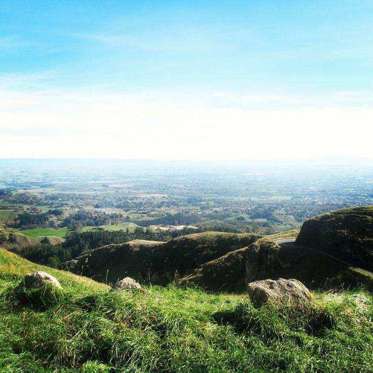 View from the top of Te Mata Peak #NewZealand
