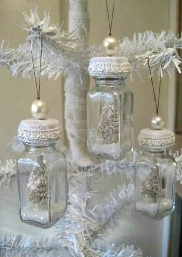Great idea for white themed Christmas