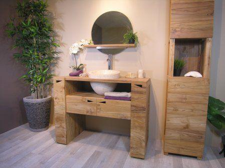 #vasque #meuble #salledebain #teck