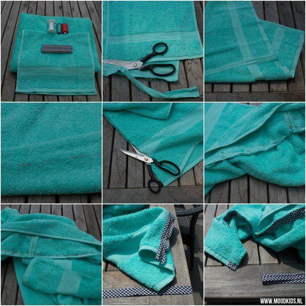 Stap voor stap zelf een badcape maken van een handdoek | Moodkids