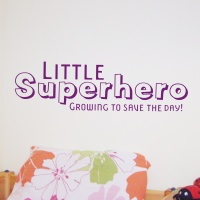 Little Superhero!  Great vinyl wall sticker from £7.99