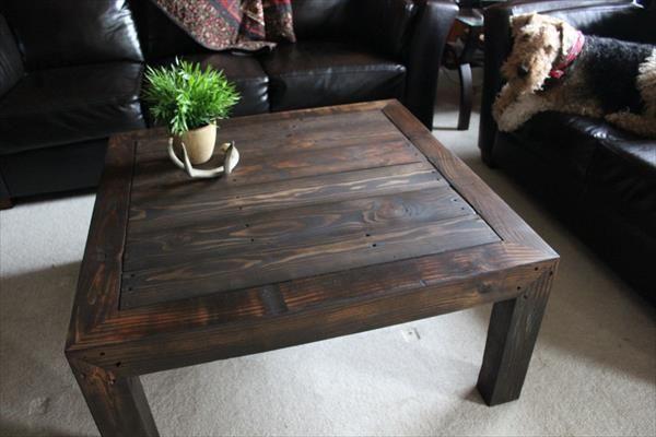Rustic Pallet Coffee Table | Pallet Furniture DIY
