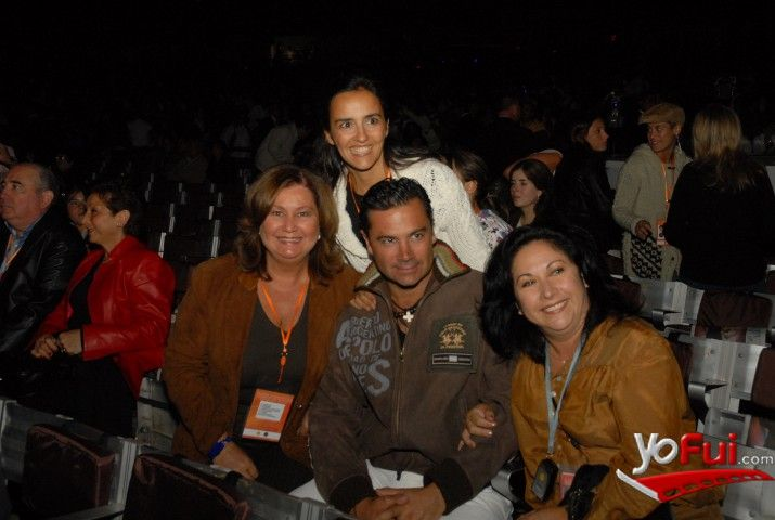 YoFui.com: Patricia Undurraga (Gerente de Rostros Canal 13), Carmen Gloria López (Directora de Programación Canal 13), Felipe Camiroaga, Sussy Leyton (TVN) en VIP y Backstage en Festival de Viña 2008, Quinta Vergara, Viña del Mar, Viña del Mar (Chile)