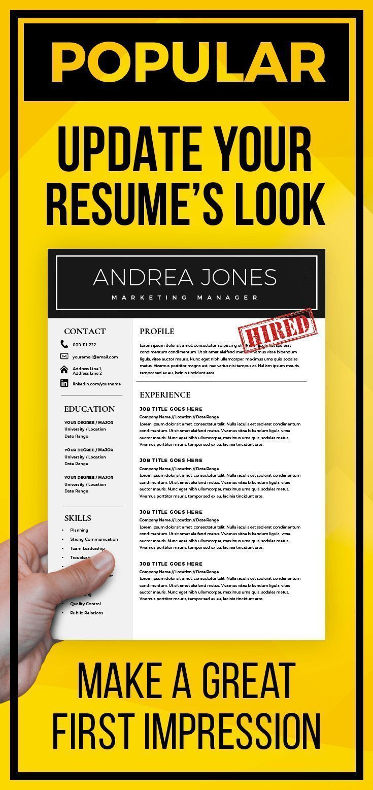 minimal resume template 3 page multipurpose cv template cover letter resume template word