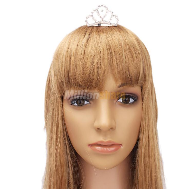 Fashion Elegant Small Rhinestone Circle Crown Comb Hair Clip Tiara