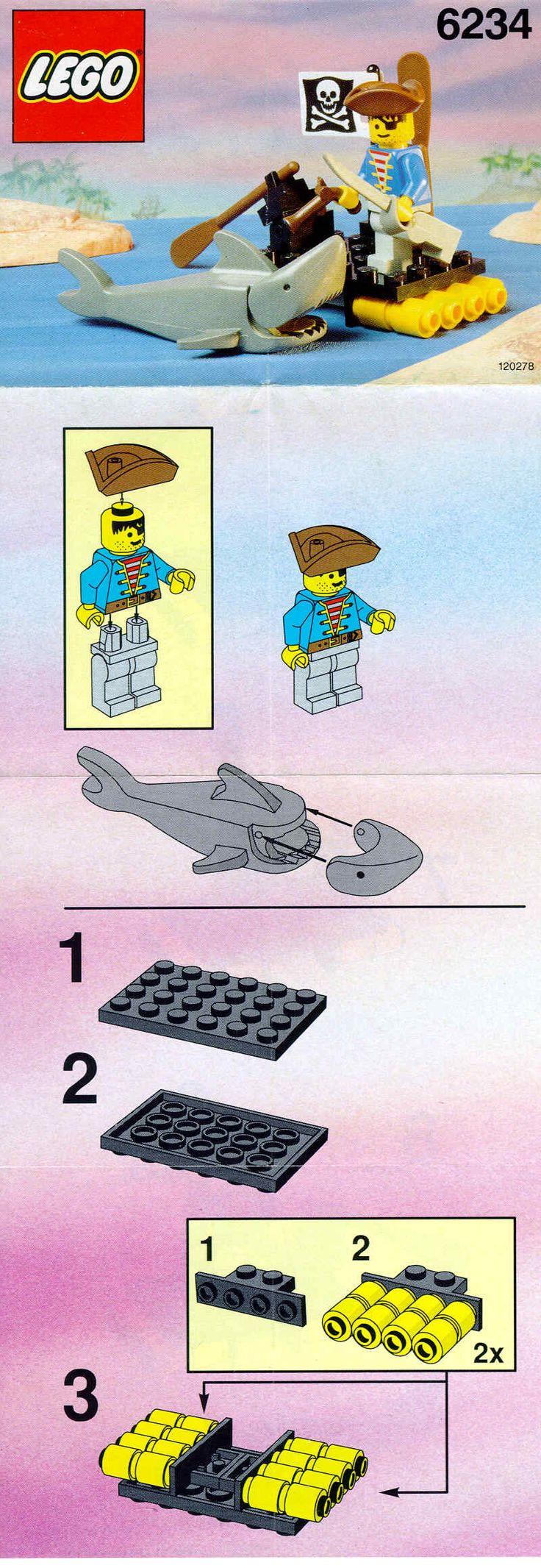 Lego Pirates: 6234 Renegade's Raft (1991)