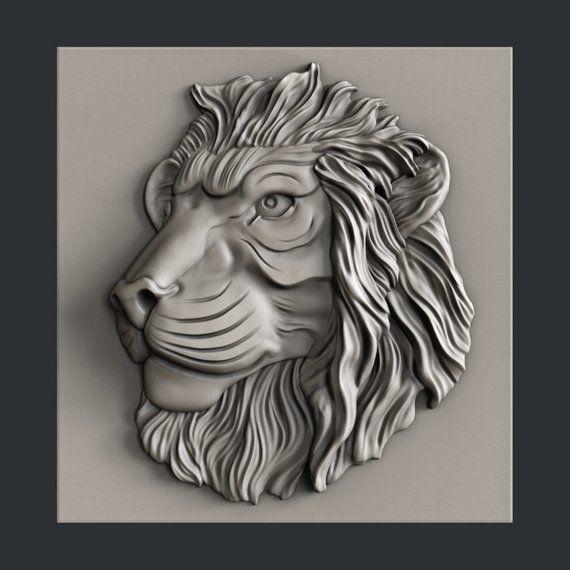 3D STL Model # LION /& PATTERN # for CNC Aspire Artcam 3D Printer 3D MAX
