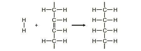 The structure of part of a fatty acid