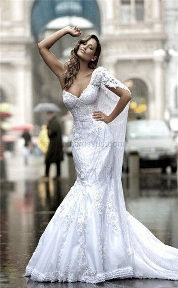 mermaid wedding dresses. I love her pose! :)