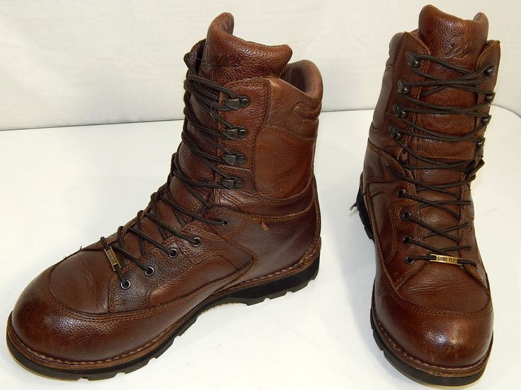 q Danner FRONTIER Men Brown Leather Gore-Tex HUNTING Insulated ...