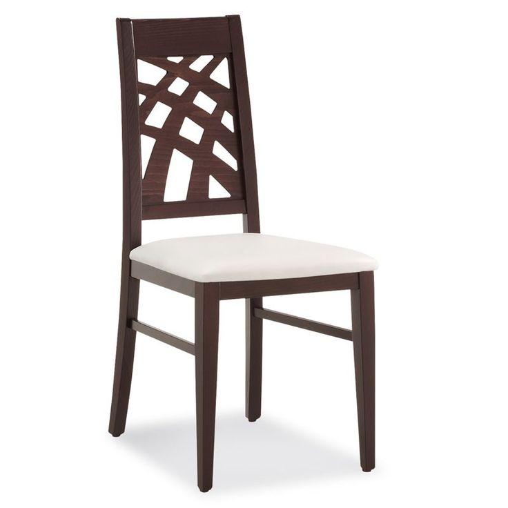 Cu un design special, modelul de scaun Carmen 490 D imbina cu succes stilul clasic cu cel modern, fiind recomandat pentru restaurante, terase, sali de evenimente sau cafenele elegante. Caracteristici:  cadru din lemn masiv; sezut tapitat; rezistent la trafic intens; posibilitatea de a realiza diverse finisaje; scheletul de lemn masiv poate fi finisat in diferite culori, culorile standard fiind wenge, nuc, cires, mahon si natur; sezutul scaunului poate fi tapitat cu stofa, imitatie de piele…