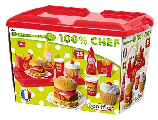 Ecoiffier - 2623 - Jeu D'Imitation - Cuisine - Set Hamburger: Amazon.fr: Jeux et Jouets