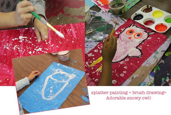 How to paint an owl - Kindergarten Art Project
