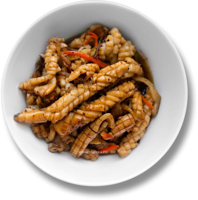 Жареные кальмары с овощами (Stir Fry Squid)