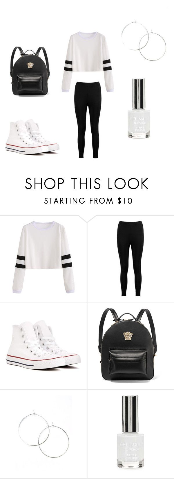 """Ballin"" by lola2bravo on Polyvore featuring Boohoo, Converse, Versace and Topshop"