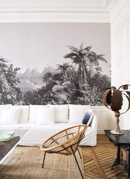 tropical wallpaper mural. / sfgirlbybay