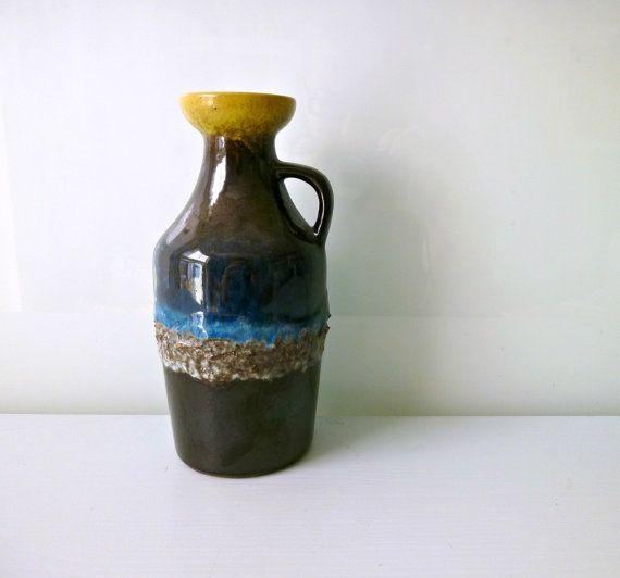 Mid Century Fat Lava Vase  Strehla East Germany by mungoandmidge, €30.00