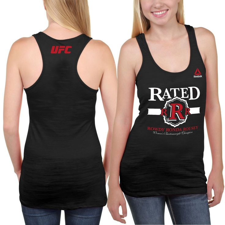 """Rowdy"" Ronda Rousey UFC 184 Reebok Women's Weigh-In Tank Top - Black - $27.99"