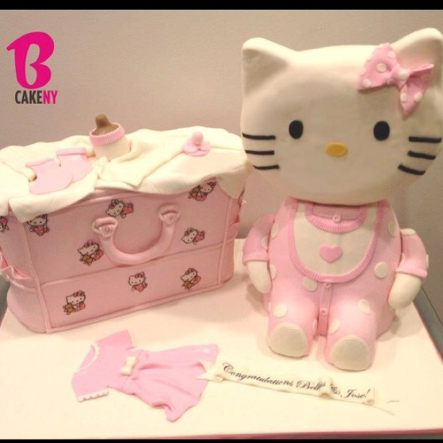 hello kitty baby shower cake bcakeny cakes pinterest