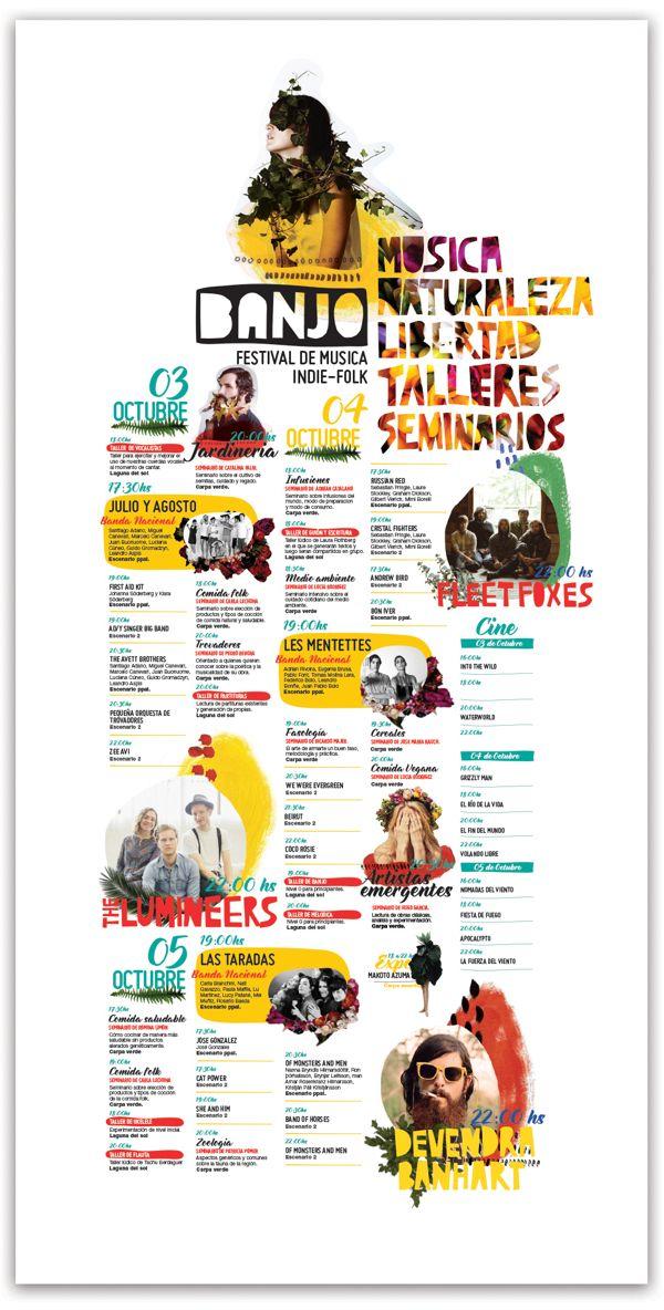 Banjo, Festival de musica indie folk by Romina Rios, via Behance
