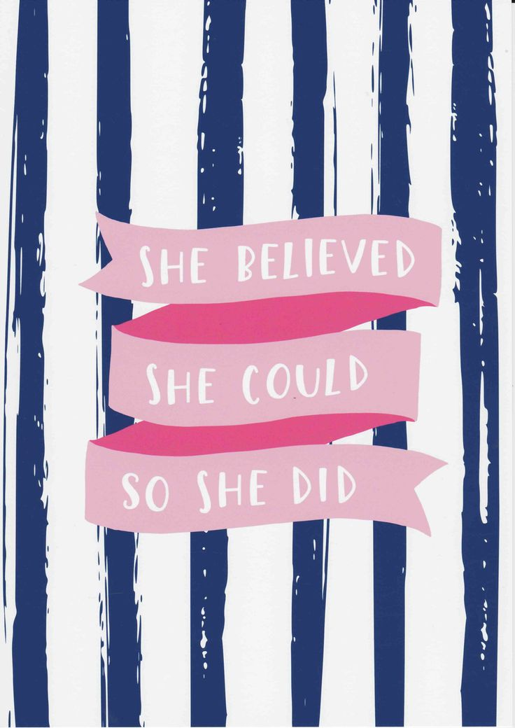 She Believed She Could So She Did Print Inspirational Quote Teen Girl Room Decor Navy and Pink Art Fashion Wall Art Typography Print by violetandalfie on Etsy