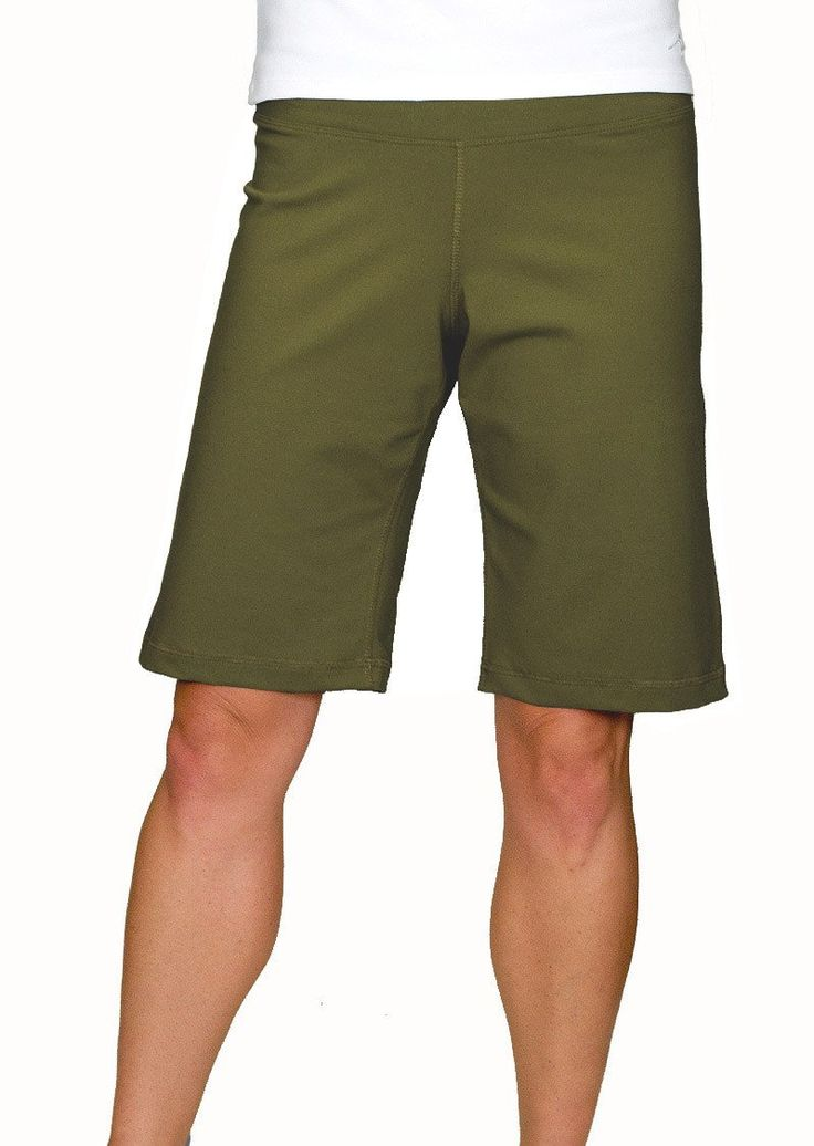 Top Rated Women's Casual Lifestyle Shorts. Perfect for Hiking, Travel, Fitness and Exercise Wear. Knee Length, Breathable Stretch Fabric. Made in the USA.