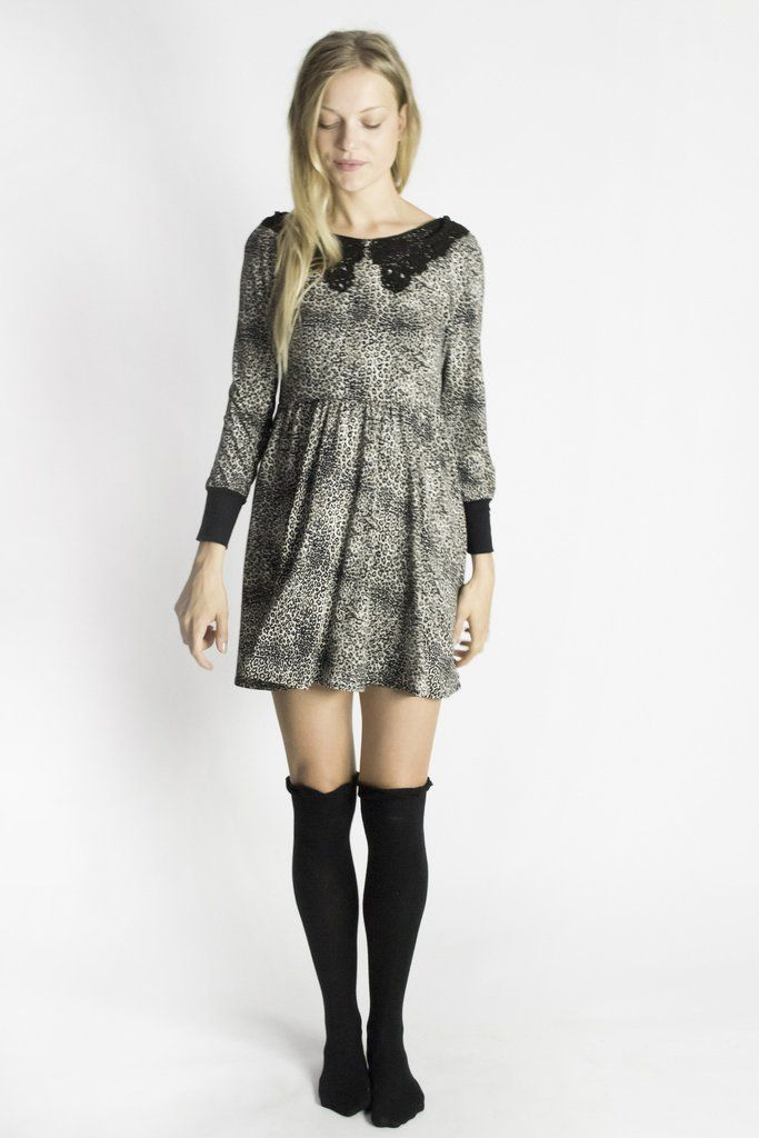 Kirakalo True Romance Leopard Print Dress