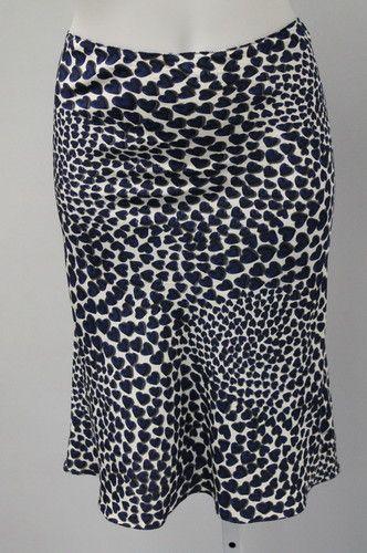 Prada blue heart print trumpet skirt, S/S 2000