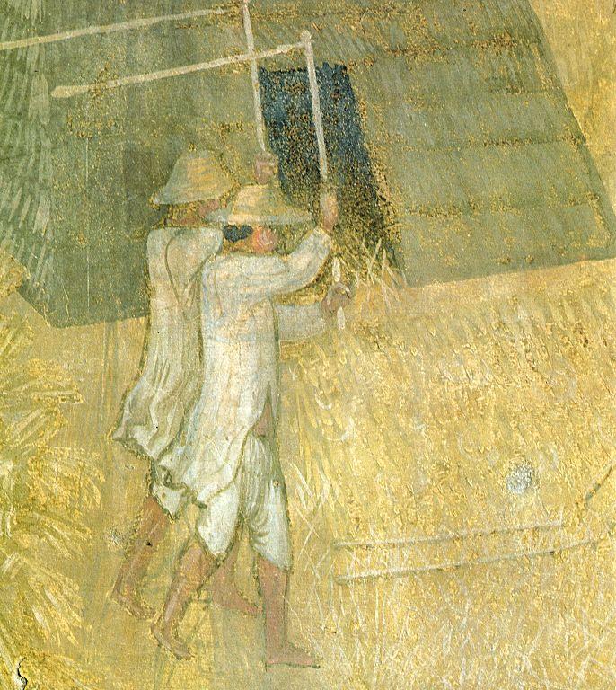 Foto: La battitura del grano ... Lorenzetti. 1338-1339.