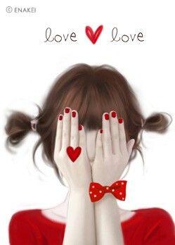 ❤٩(๑•◡-๑)۶❤                                                       Enakei'M Not, Red, Nithyavegan Enakei, Heart Animal, Não Vêem, Illustration, Heart Pretty, But Not, Olhos Não