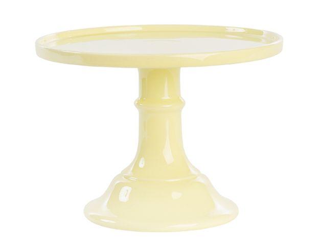 Tortenplatte+mit+Fuß+in+Pastellgelb,+Ø+25+cm+von+Home+of+Cake+auf+DaWanda.com