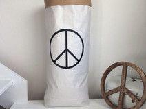 Paperbag for LIVING - PEACE - Symbol
