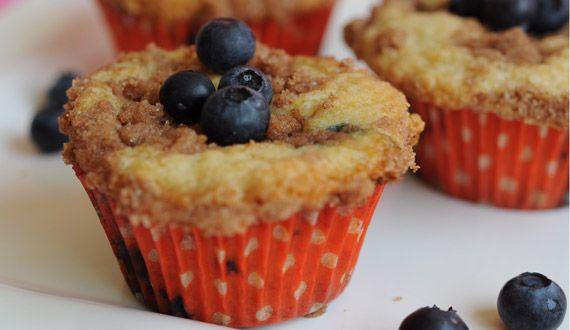 muffins de arándanos y canela