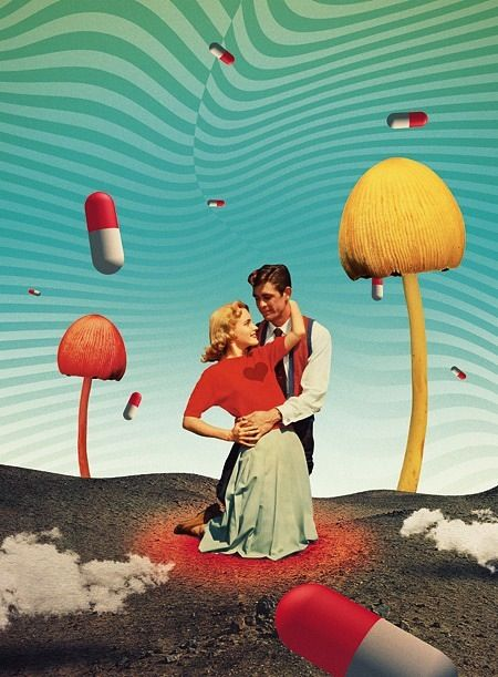 Julien Pacaud collage  #La-cream-de-la-cream-des-collages-collages