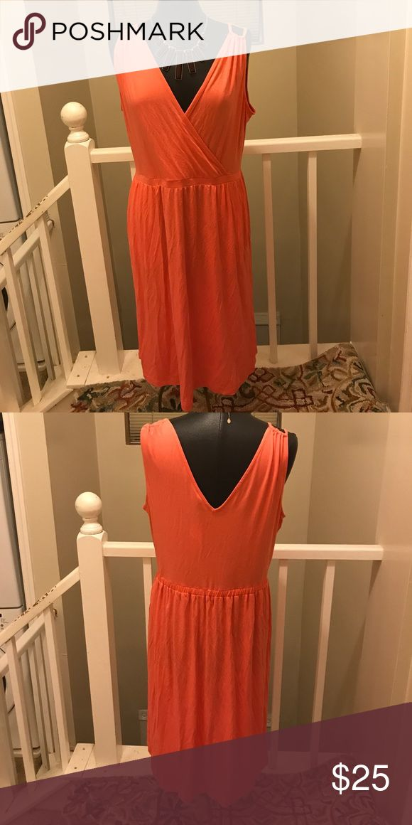Banana Republic Coral Sundress I paid $79 for it! Yours for a fraction! Great for any event Banana Republic Dresses Midi