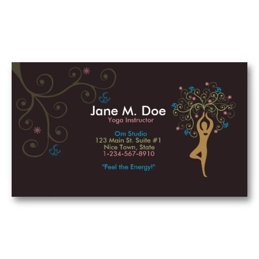 24 best cheap business cards online images on pinterest business yoga business card colourmoves