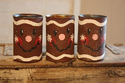 Tin Can Gingerbread Gift Cans