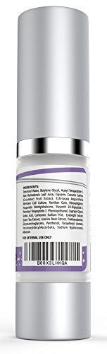Best Eye Cream for Dark Circles, Puffiness, Sagging Skin, Wrinkles and Crow's Feet - Anti-Aging Gel w/ Plant Stem Cells, Vitamin C, Hyaluronic Acid, Complex Peptides, Aloe and Green Tea - Oil Free