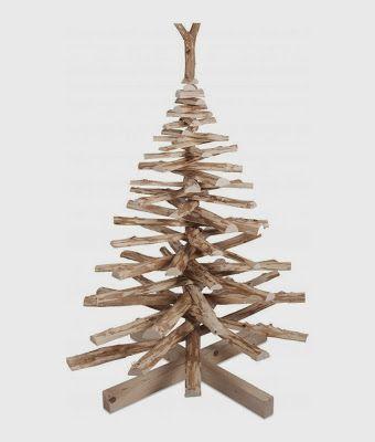 houten kerstboom wood christmast tree