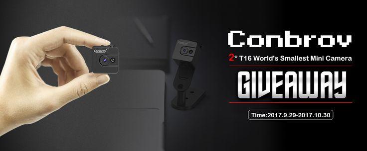 Conbrov T16 Mini Camera Giveaway