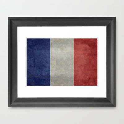 National Flag of France - Vintage Version Framed Art Print by LonestarDesigns2020 - Flags Designs + - $32.00