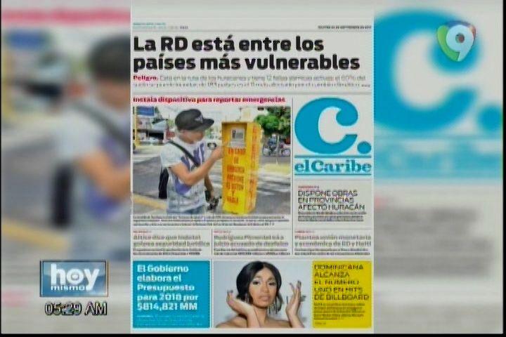 Las Principales Informaciones En Portadas De Los Periódicos Del Día De Hoy 26 De Septiembre 2017