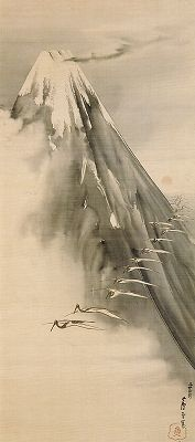 MOOD Rosetau NAGASAWA (1754~1799), Japan 長沢芦雪「富士越鶴図」. S)
