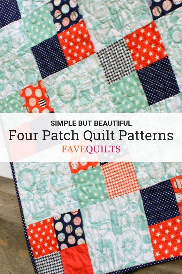 Show Off Your Fancy Fabrics With These Simple But Beautiful Four Patch Quilt Patterns Quilt Patterns Beginner Quilt Patterns Patch Quilt