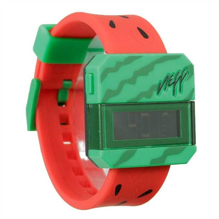 NEFF WATERMELON DIGITAL WATCH    £39.95     Buy Here: http://www.blacksheepstore.co.uk/neff-watermelon-digital-watch.html