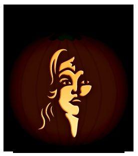 Wonder Woman Pumpkin Stencil