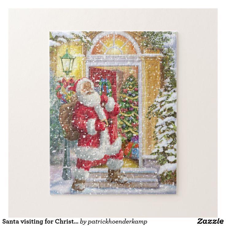 Santa visiting for Christmas eve