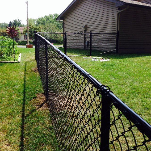 DIY black chain link fence- how to