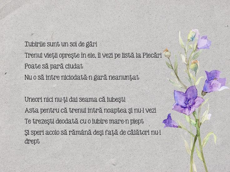 13th poem - Lista de plecări